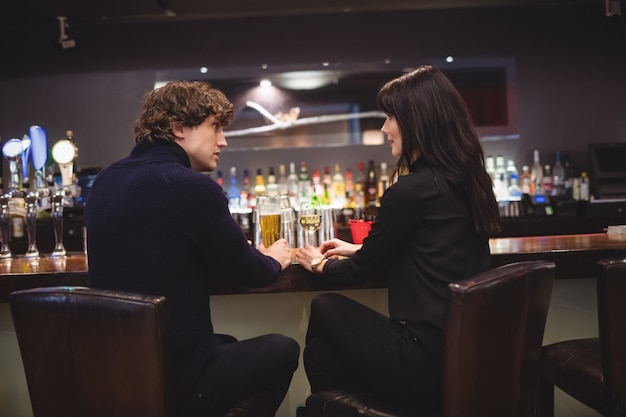 Couple, boire, ensemble