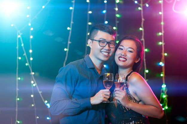 Couple clubbing