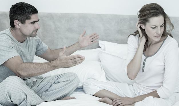Couple conflictuel au lit