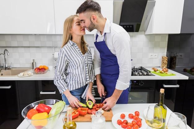 Couple, couper, legumes