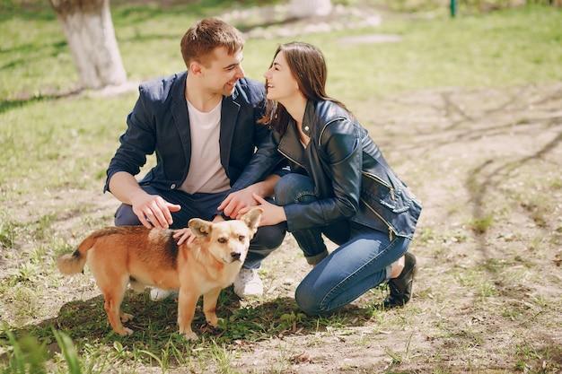 Couple dans un parc