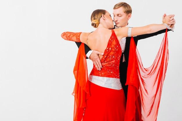 Couple, danse, passionné, danse