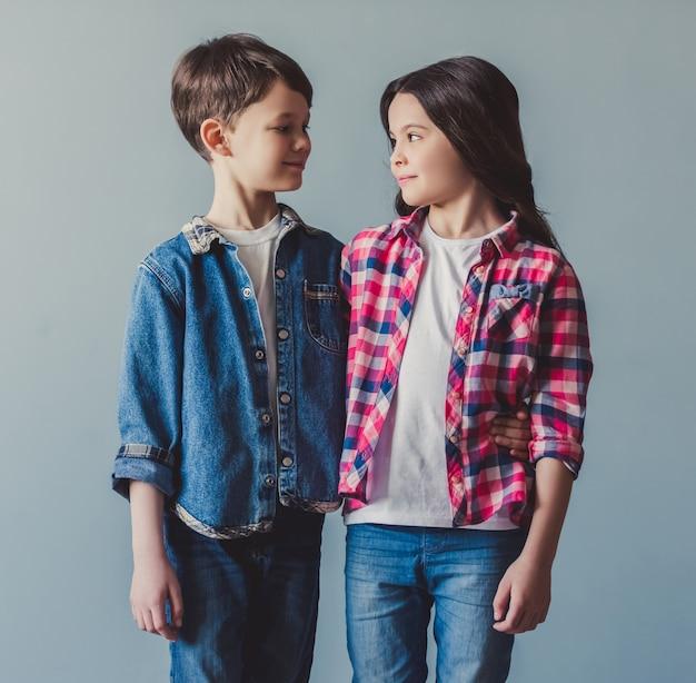 Couple d'enfants