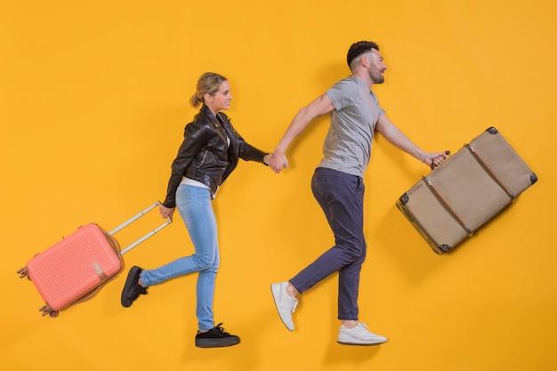 Couple flottant avec un chariot