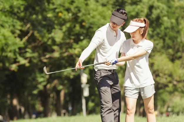 Couple de golf