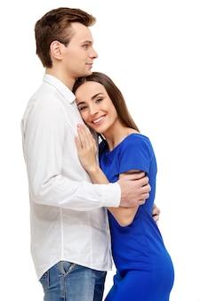 Couple heureux le jour de la saint-valentin