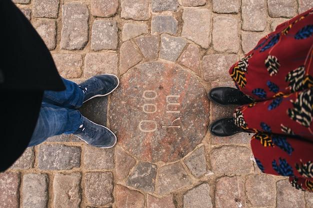 Couple homme et femme pieds