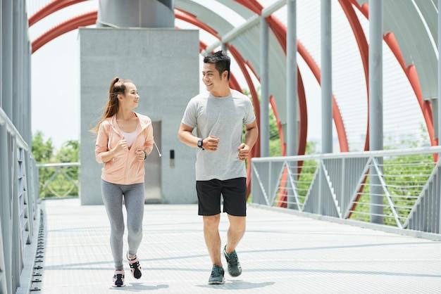 Couple de jogging