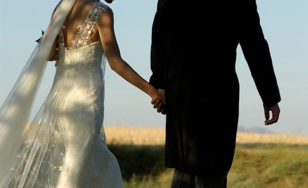 Couple le jour du mariage