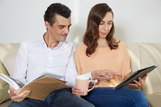 Couple de lecture