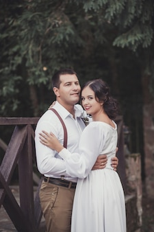 Couple mariage, dehors
