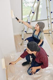 Couple peinture murs