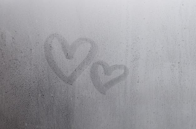 Couple de symbole du coeur abstrait amour floue