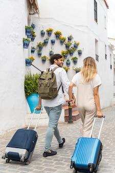 Couple de tir complet avec bagages
