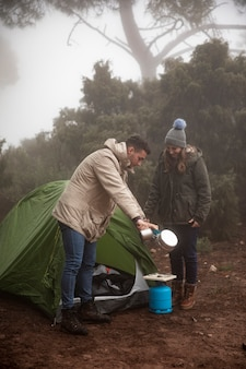 Couple de tir complet avec réservoir d'essence et pot