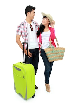 Couple de touristes en vacances