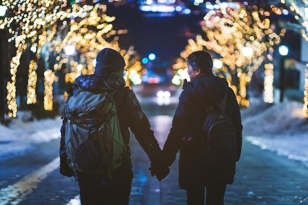 Couple de voyage