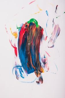 Coups aquarelle de vecteur coloré sur fond blanc