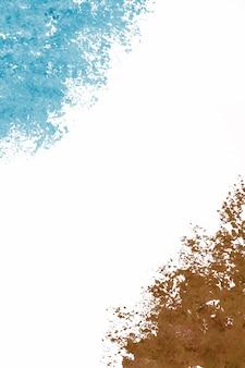 Coups de peinture bleue et brune