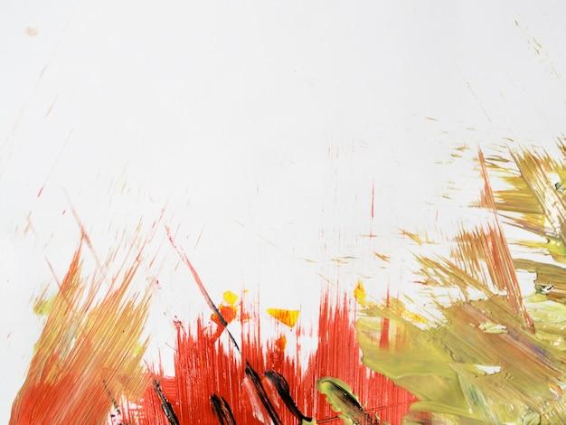 Coups de peinture avec espace de copie