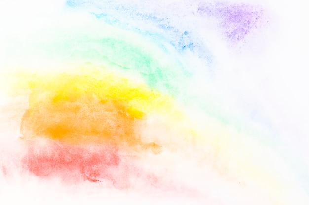 Coups de peinture multicolores