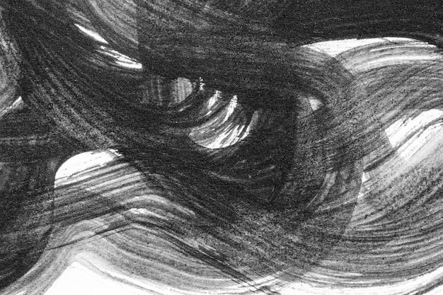 Coups de pinceau abstrait et éclaboussures de peinture sur papier blanc