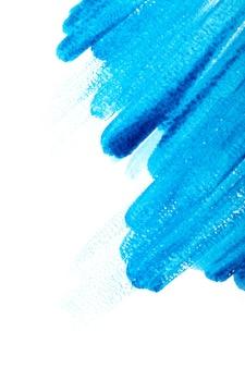 Coups de pinceau aquarelle bleu