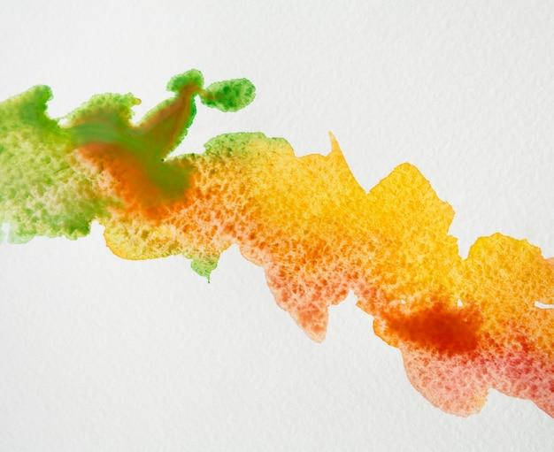 Coups de pinceau aquarelle coloré artistique