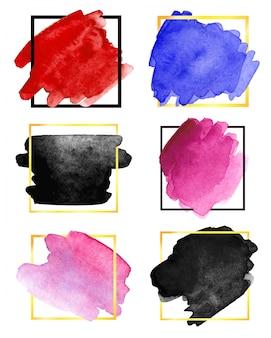 Coups de pinceau aquarelle