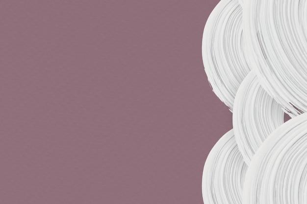 Coups de pinceau blanc sur un fond