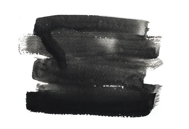Coups de pinceau d'encre noire