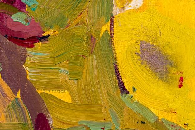 Coups de pinceau à l'huile sur toile