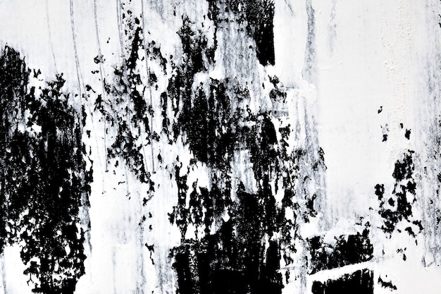 Coups de pinceau de peinture à l'huile blanche. fond abstrait grunge