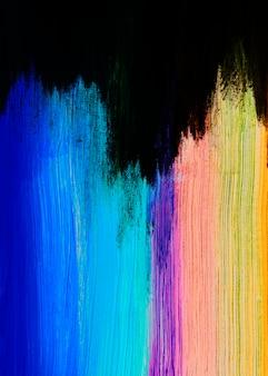 Coups de pinceaux colorés