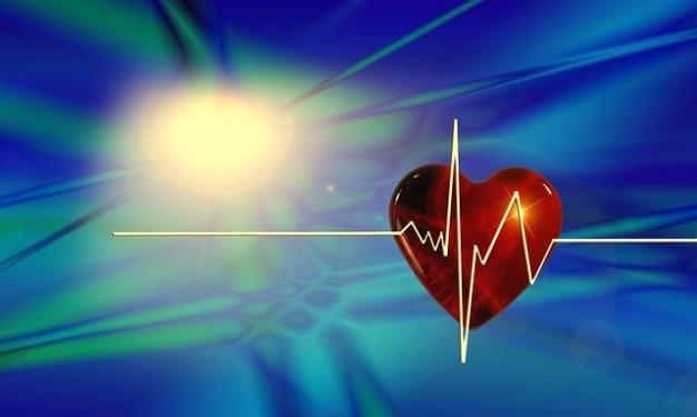 Courbe de fréquence d'impulsion cardiaque battement de coeur bless