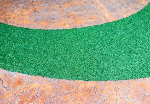 Courbe d'herbe artificielle