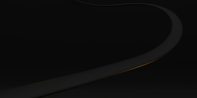 Courbe d'onde de fond texture tube en plastique courbe noire déformée illustration abstraite 3d