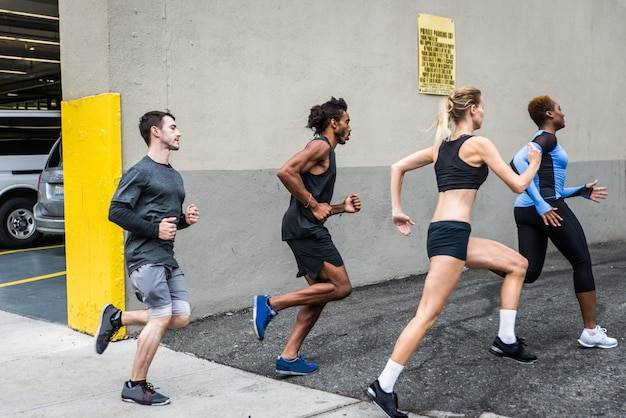 Coureurs s'entraînant à new york