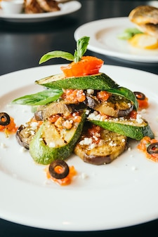 Courgettes d'aubergines