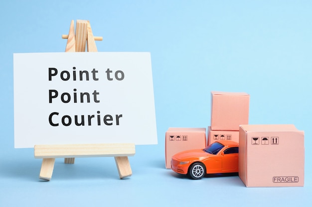 Courier industry terme point to point courier.