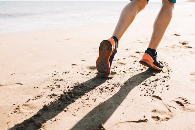 Courir sur le sable