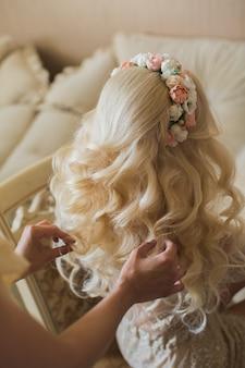 Couronne de fleurs de mariage coiffures edding.
