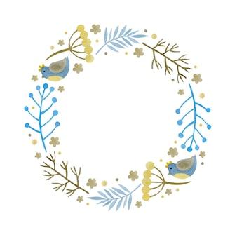 Couronne de noël aquarelle nouvel an joyeuses fêtes