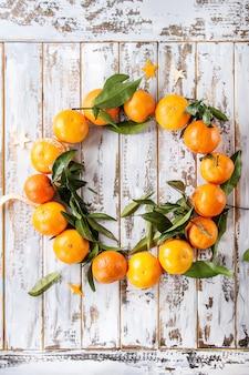 Couronne de noël aux mandarines