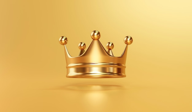 Couronne de roi royal en or sur or