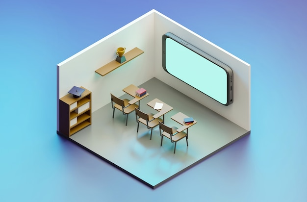 Cours e-learning sur téléphone mobile