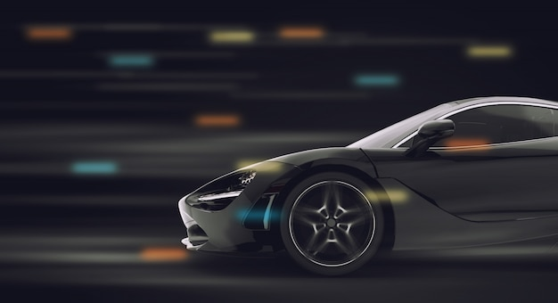 Course de voitures de sport génériques et sans marque