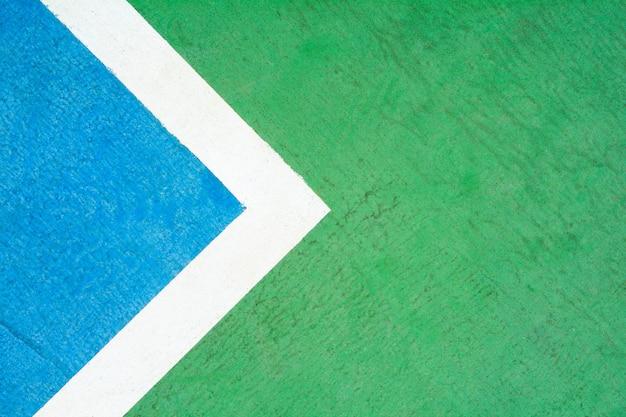 Court de tennis bleu et vert - gros plan
