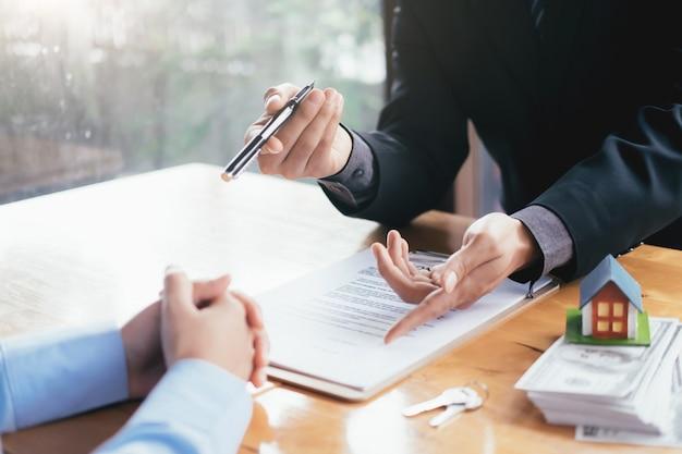 Courtier immobilier résidentiel maison location contrat d'inscription.