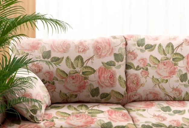 Coussin de canapé de salon, design d'intérieur coloré